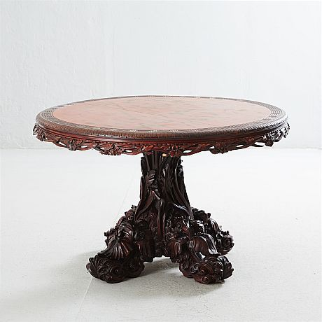 Salongsbord proveniens Harpsund omkring 1900