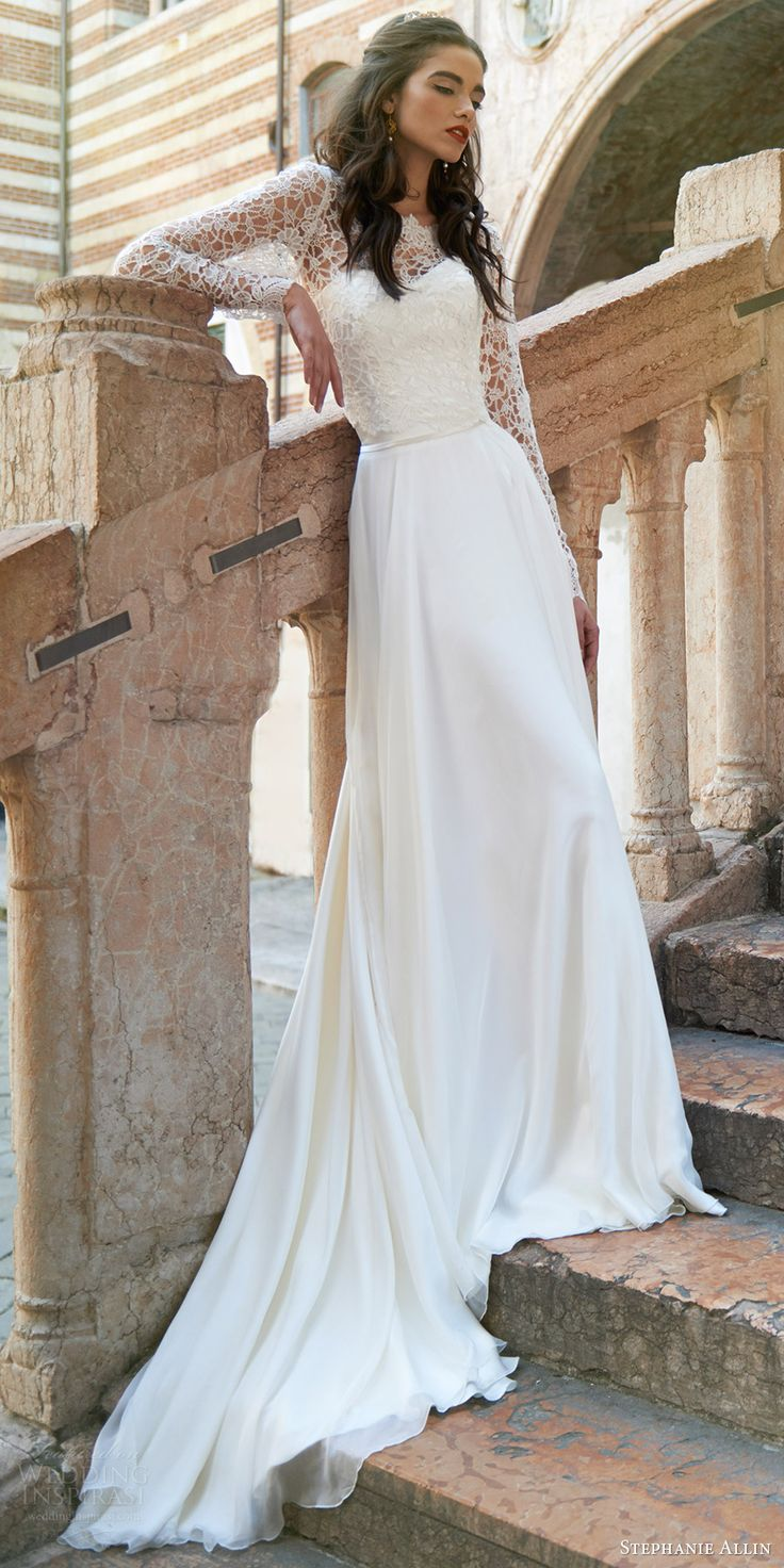 stephanie allin bridal 2017 strapless sweetheart aline wedding dress slit skirt (liliana with lucerne top) mv