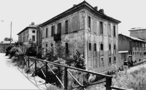 Antica vista di Palazzo Cittadini Stampa | Abbiategrasso