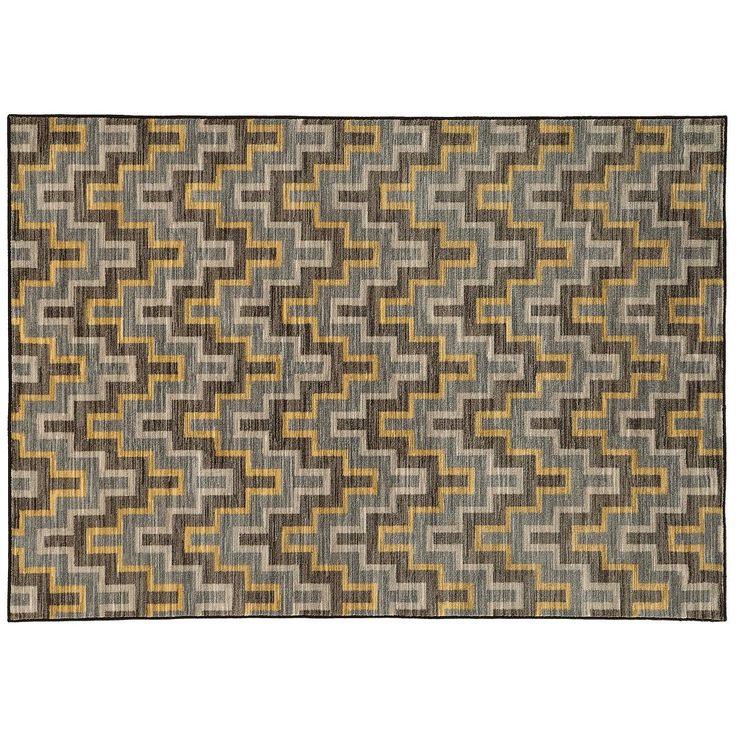 StyleHaven Rowe Geometric Chevron Rug, Grey