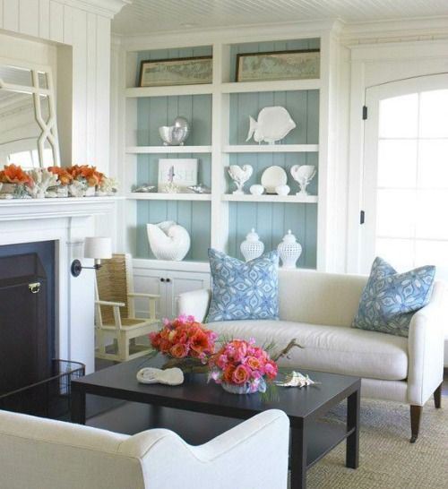 Coastal Living Rooms from Wayfair's Coastal Living Magazine Boutique: http://www.completely-coastal.com/2016/04/coastal-house-tours-wayfair-shop-the-look.html | Shop the Look