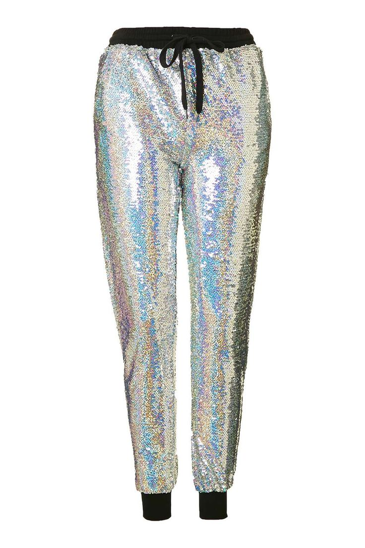 SHOP    Holographic Joggers. Wear with a plain tee and trainers/heels.