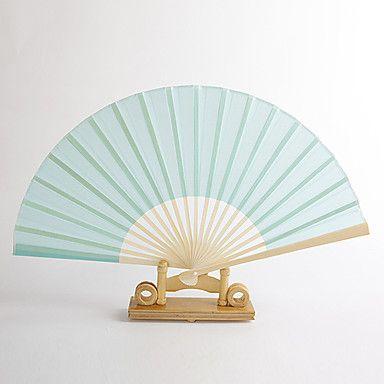 Blue Silk Hand Fan (set of 4)
