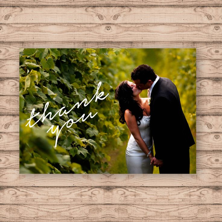 Photo Card Wedding Thank You Cards - Print At Home File or Printed Cards - Personalised Thank You Cards - Folded Card or Postcard Design by PaperCrushAus on Etsy