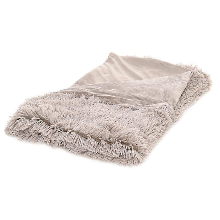 SYNTHETIC FUR THROW IN BEIGE COLOR 150X180 - Furs - FABRIC ITEMS