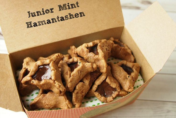 Chocolate Mint Hamantashen with Junior Mints!!