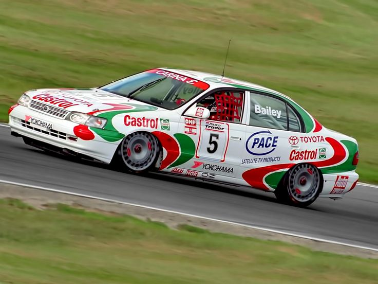 Castrol Toyota Carina E BTCC (AT190) 1993–95 (via http://www.autowp.ru/picture/310673 ) - Always a favourite of mine because my Dad drove one!