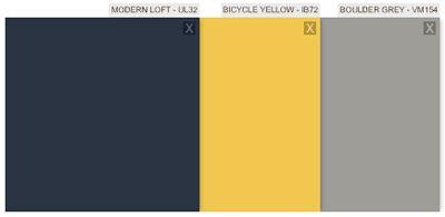 Ralph Lauren Paint Boulder Grey Modern Loft Bicycle Yellow