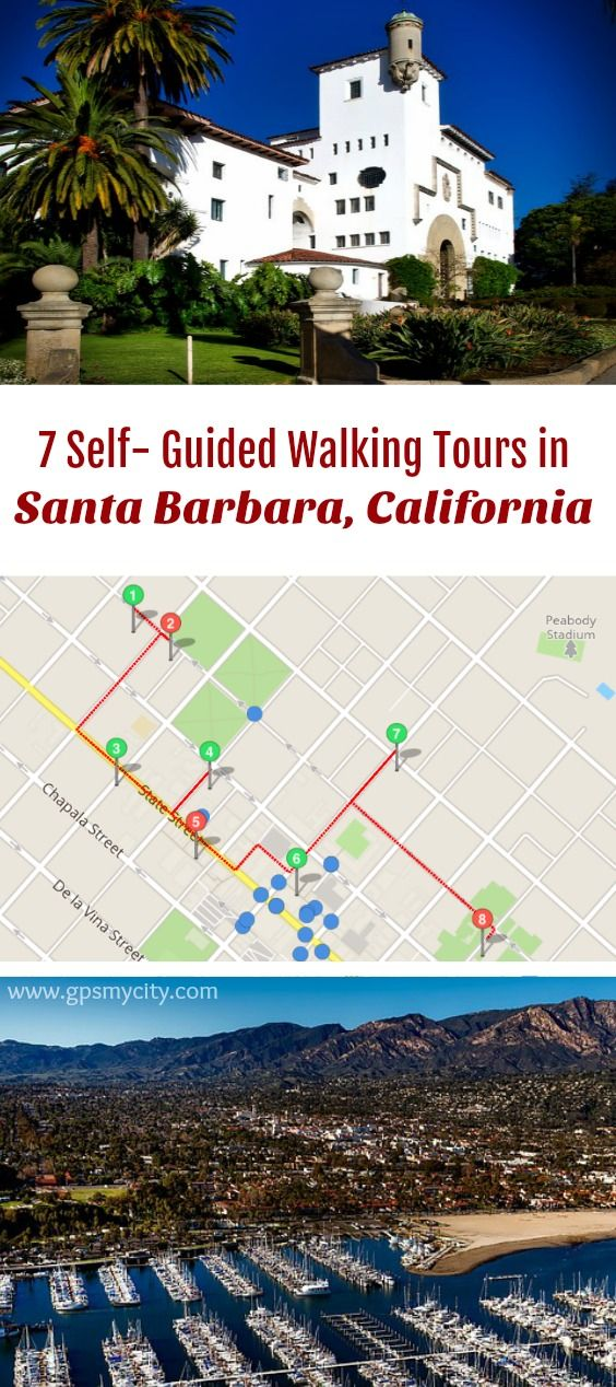 San Jose Calif Map%0A     designed selfguided walking tours in Santa Barbara  California to  explore the city on foot at your own pace  Each walk comes with a detailed  tour map