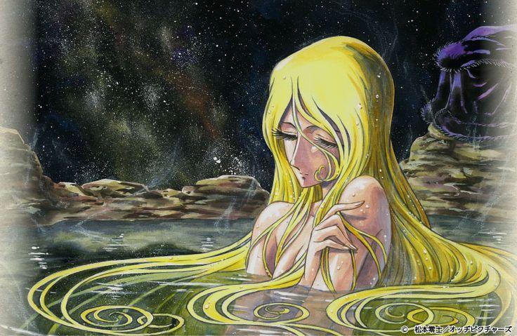 Maetel in hot springs  (Art by Keisuke Masunaga)