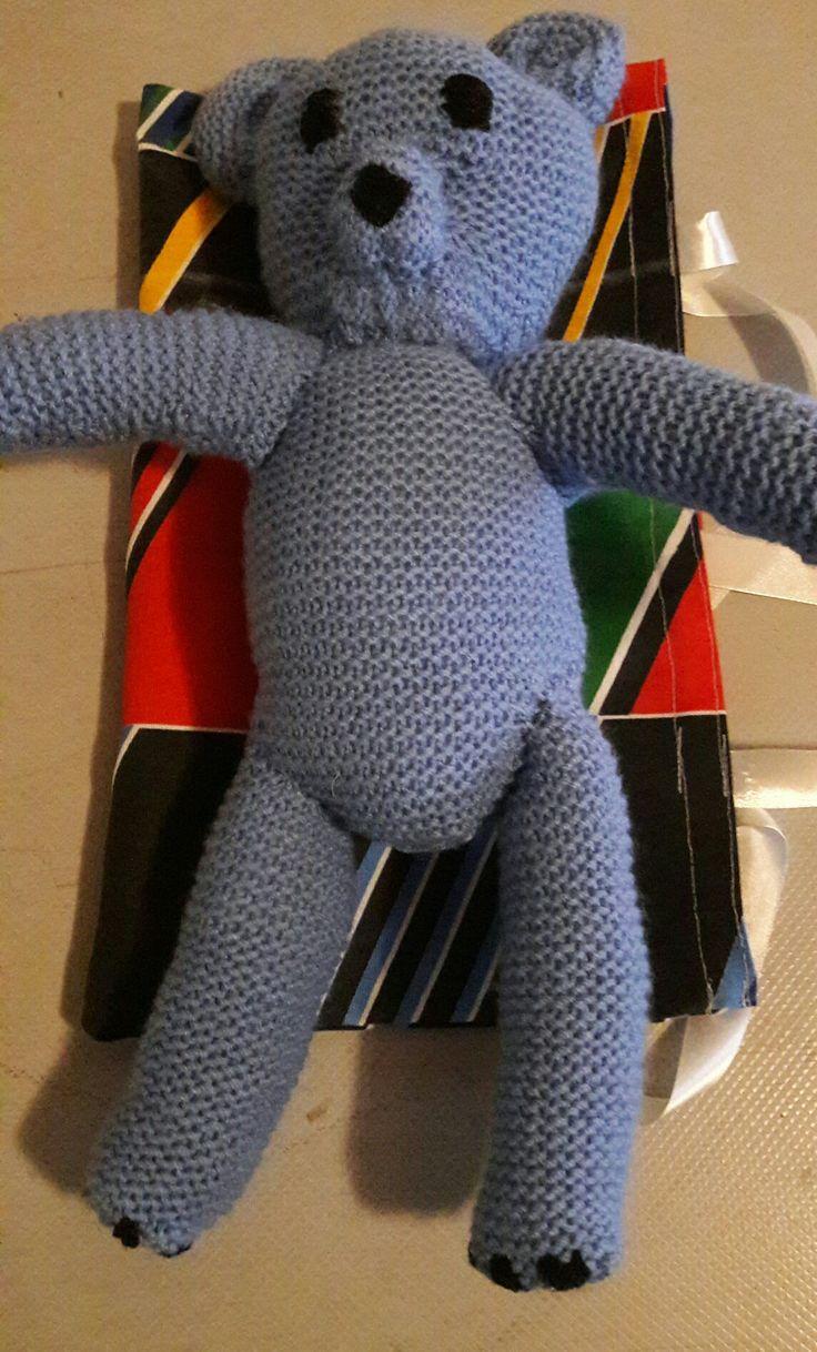 Hand knitted Mr Bean teddy