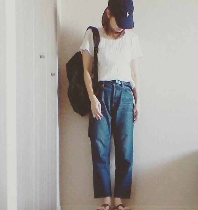 画像:チェックシャツ×ポロラルフローレンキャップのカジュアルな大人コーデ | ポロラルフローレンのキャップを被った女子が急増!キャップ女子コーデまとめの14枚目 | LAUGHY [ラフィ]