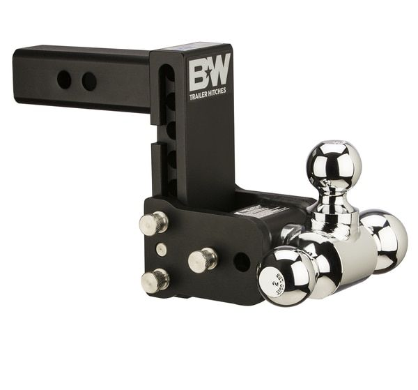 Adjustable Hitch Receiver >> Qd10048b B W Tow And Stow Adjustable Tri Ball Mount 5 Maximum