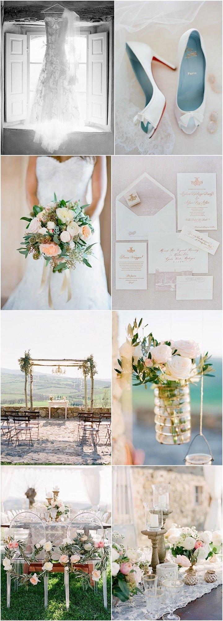 photo: Jose Villa; Destination Wedding: Spring Romance in Tuscany