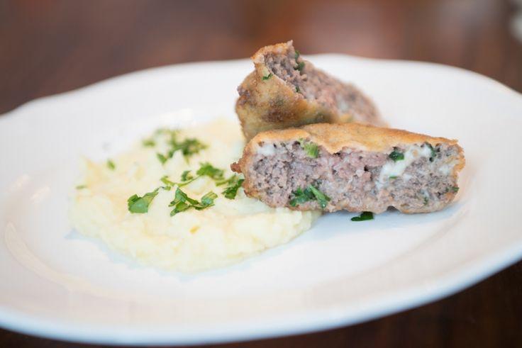 holandský řízek (mleté maso,eidam)