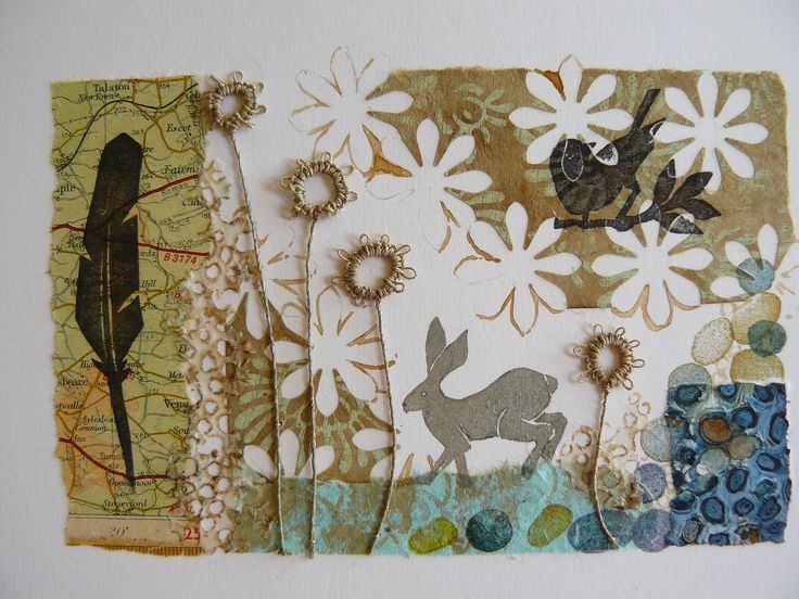 Print, paper & stitch by Liz Cooksey http://lizcooksey.com/