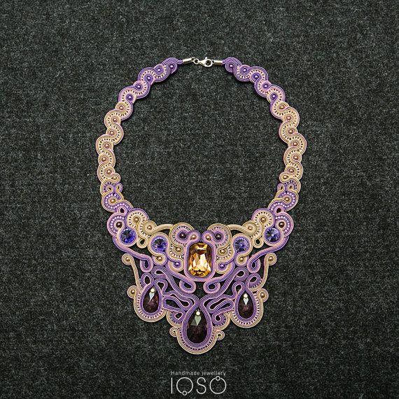 SN8/14 Anna Karenina soutache necklace by IOSO on Etsy