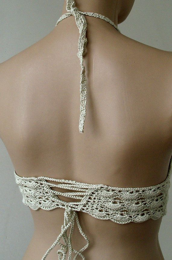 EXPRESS CARGO Crochet Beige Bikini-Bustier Women by formalhouse