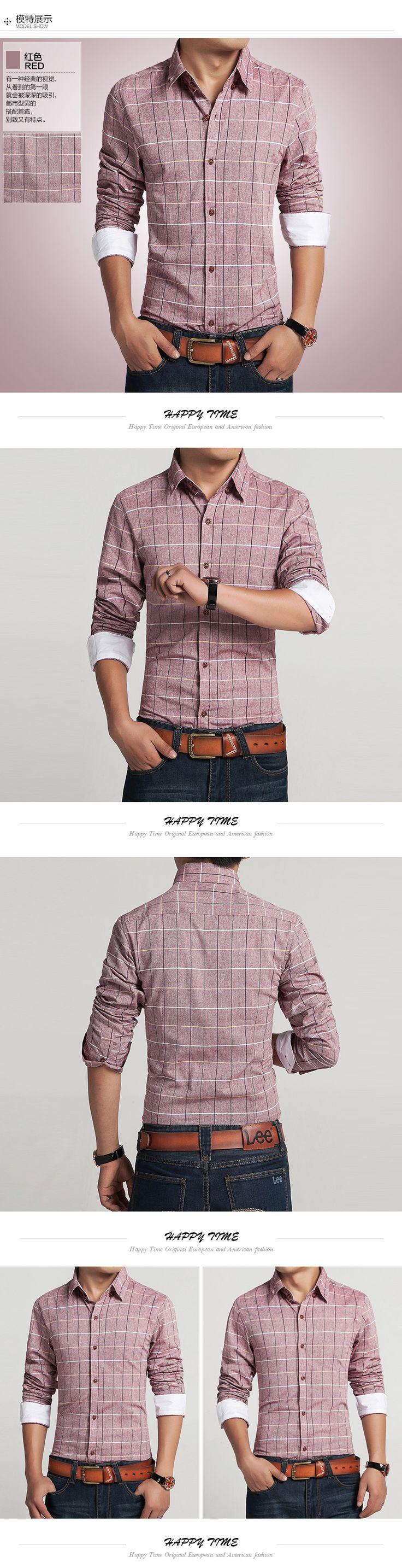 2015 homens 100% algodão retro camisas de vestido da marca hot homem primavera outono manga longa de algodão xadrez do vintage casual masculino camisas em Camisas casuais de Dos homens de Roupas & Acessórios no AliExpress.com | Alibaba Group