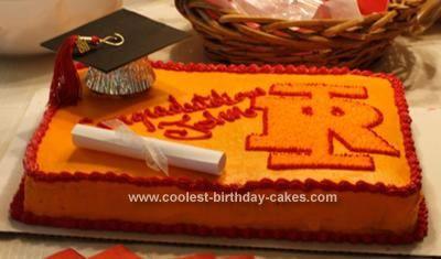 Cooler selbst gemachter Abschluss-Kuchen für einen Highschool Absolventen   – graduation party ideas