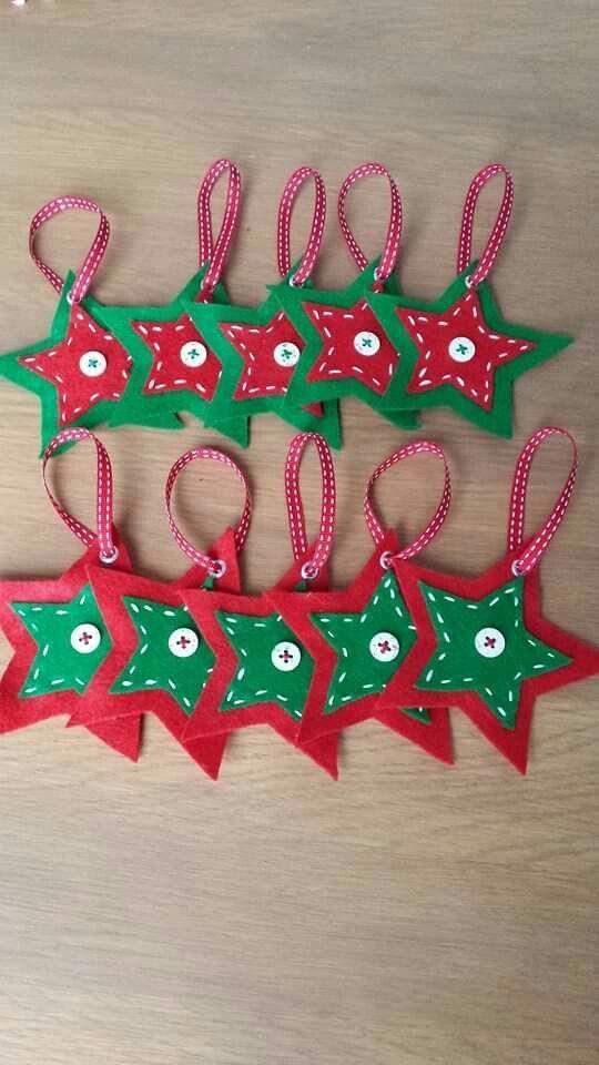 étoile de Noël décoration de sapin en feutrine