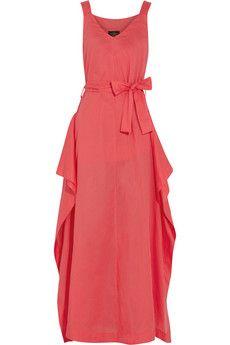 Vivienne Westwood Anglomania Zeta draped cotton maxi dress | THE OUTNET