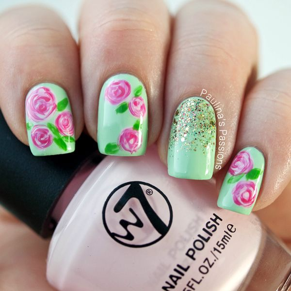 Rose Nail Art Tutorial: 17 Best Ideas About Rose Nail Art On Pinterest