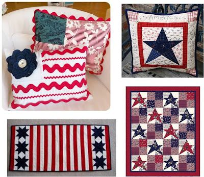 long list of patriotic quilts and patterns