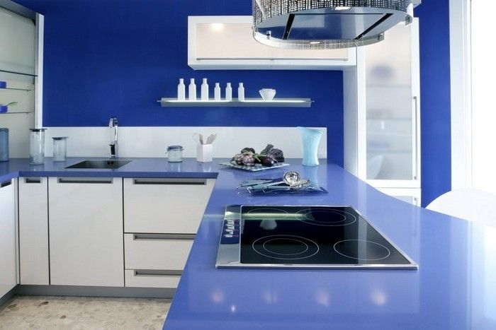 Selbstgebaute Küche selbstgebaute küche küche in blau gesättigte farben in der küche