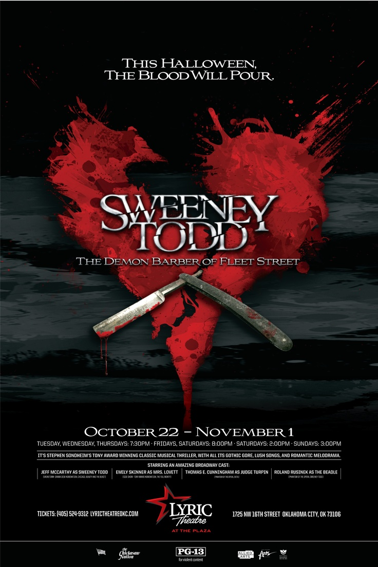 Sweeney Todd poster for Lyric Theatre   My Design ...