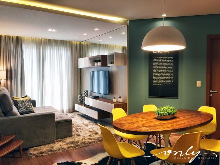 Sala De Tv Jantar Mounted TvDining RoomsGood IdeasCrownCurtainsHome