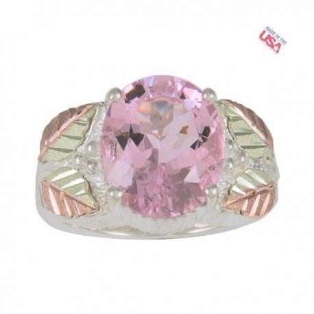 Black Hills Ezüst Gyűrű Rózsaszín Szt. Helen drágakővel