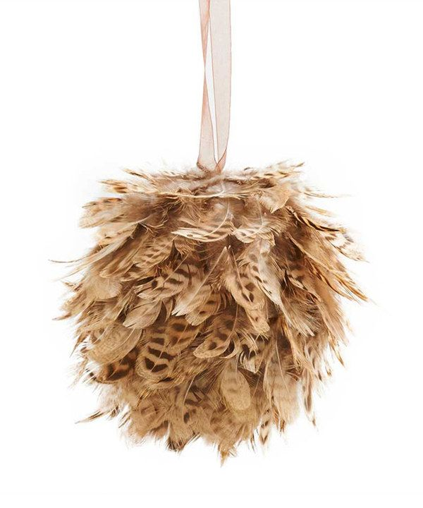 Loving this K&K Interiors Large Brown Feather Ball Ornament on #zulily! #zulilyfinds