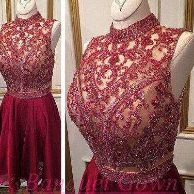 Sparkle Homecoming Dress,Wine Red Homecoming Dresses,High Neck Homecoming Dress,Sleeveless Homecoming Dress,Burgundy Homecoming Dresses