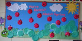 Trinity Preschool Mount Prospect: We're buggy about spring with caterpillar bulletin board