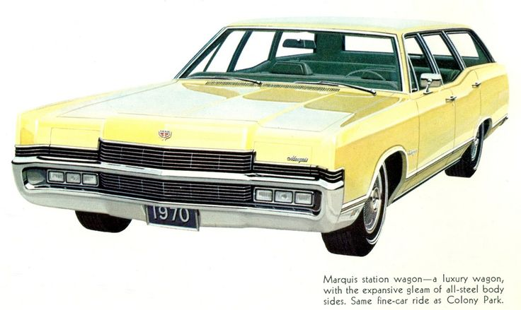 1970 Mercury Marquis Station Wagon Yep had this one too  LOL