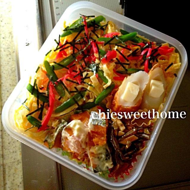 おはです! 今日は簡単にすし太郎使っちゃいました(*^^*) - 85件のもぐもぐ - 8/24  チラシ寿司弁当 by chiesweethome