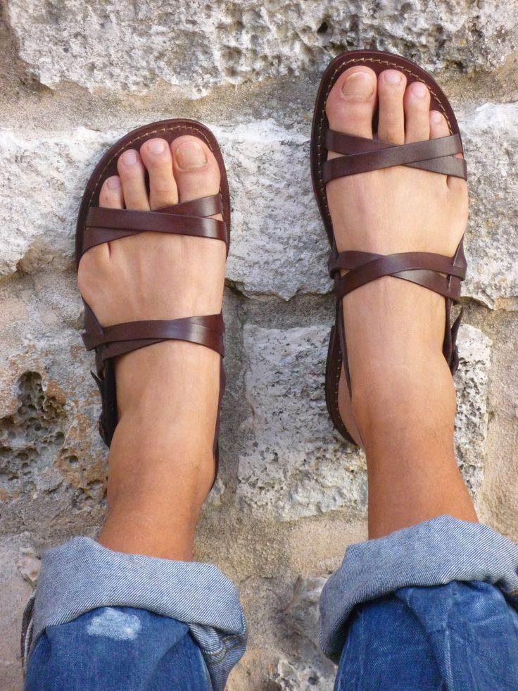 Men leather sandals - Shipping in the USA, Canada, Mexico, Europe