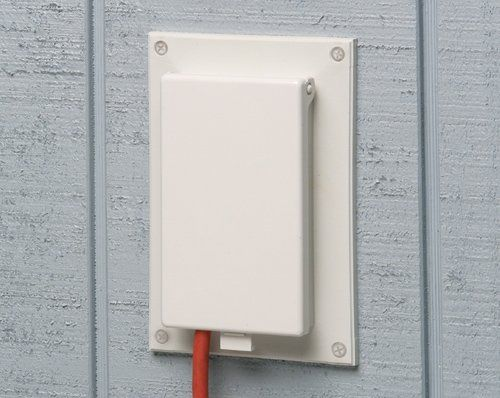 Arlington Dbvr1w 1 Recessed Outlet Box Wall Plate Kit For