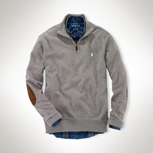 Polo Ralph Lauren Textured Pima Cotton Half-Zip