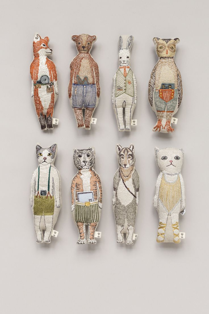 tiny dolls, tiny stuffed animals, cat, dog, foxCORAL & TUSK - coralandtusk.com