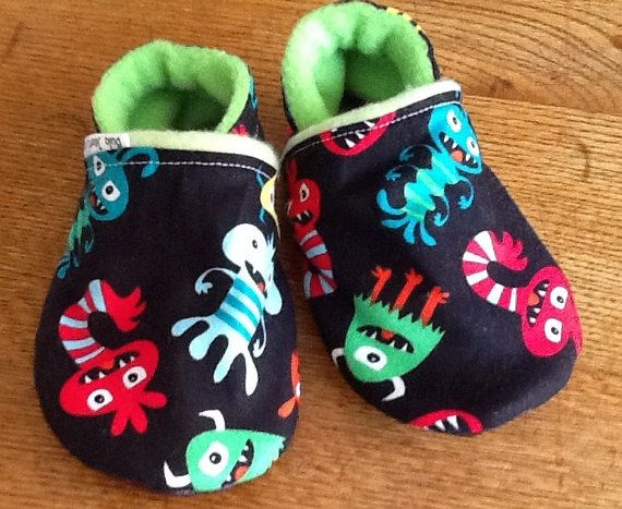 Monster Summer Soft Soled Baby / Toddler Leather Slipper daycare shoes
