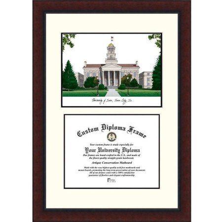 University of Iowa 8.5 inch x 11 inch Legacy Scholar Diploma Frame, Multicolor