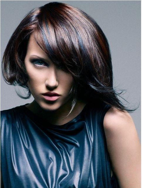 medium bob hairstyle with bang bmodish #prom hairdos for short hair