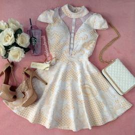 Vestido Clarice Jacquard Premium C/ BOJO