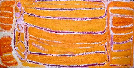 Eubena Nampitjin  Pankapirni  2003  synthetic polymer on linen  120 x 60 cm  $14,000 AUD