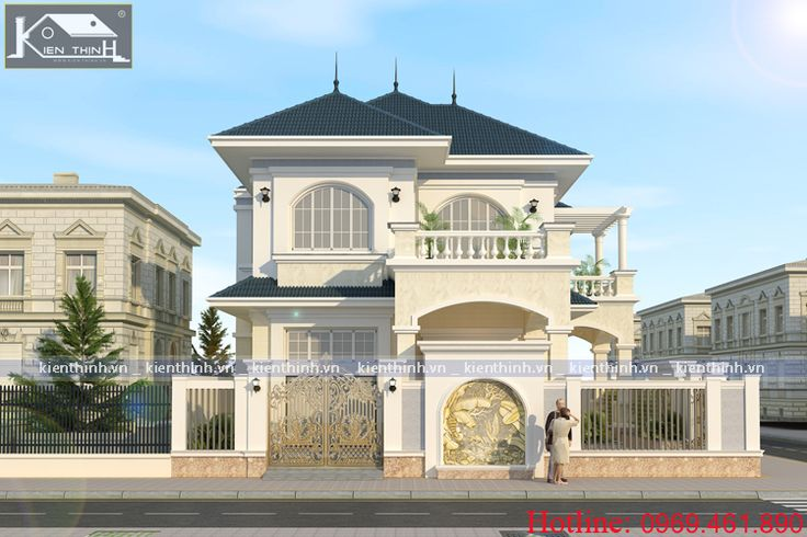Tổng hợp các mẫu thiết kế nhà biệt thự tân cổ điển, kiểu pháp 2-3-4 tầng đẹp phần 1