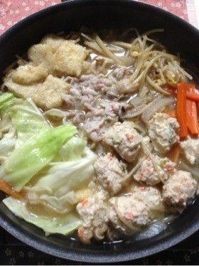 スープも鶏つくねもお手製☆味噌ちゃんこ鍋