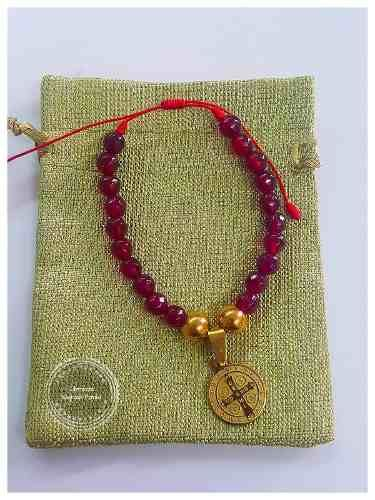 e5924a937b68 Manilla En Murano Rojo Y Medalla San Benito En Acero - $ 12.000 ...