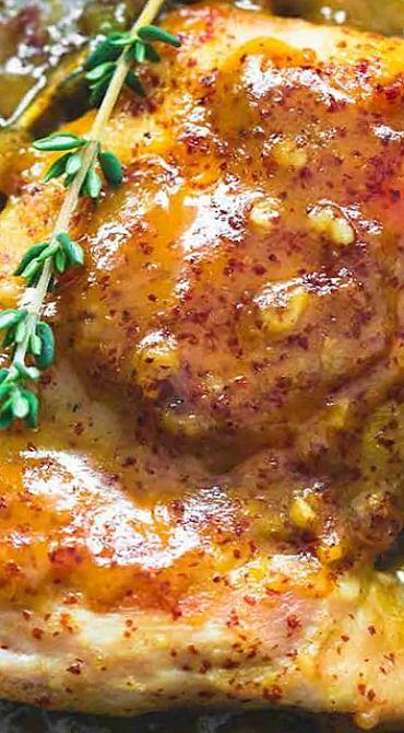Maple Mustard Glazed Chicken